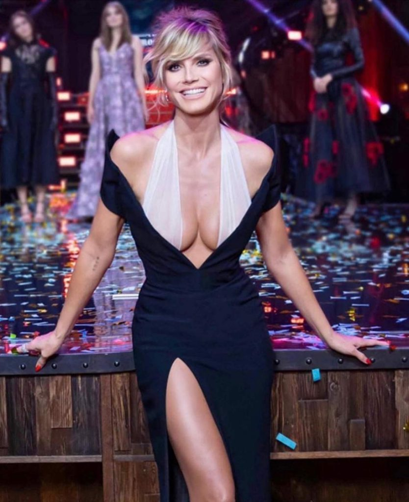 Heidi Klum in einem tollen Abendkleid